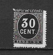 LOTE 1397  ///  ESPAÑA  1898 CIFRAS *MH - Impuestos De Guerra
