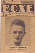Magazine Sports Hebdomadaire Des Rings - BOXE - 3 Fév. 1933 - Georges Leperson Champion De France - 1900 - 1949