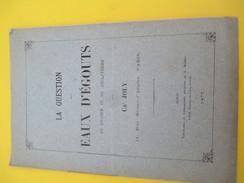 """Monographie/ """"La Question Des Eaux D'égouts En France Et En Angleterre"""" Ch Joly/ 1877    MDP62 - Historical Documents"""