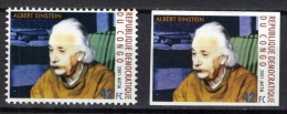 Congo 2001 COB 1894 Perforated + Imperforated MNH, Millennium, Albert Einstein, German-born Theoretical Physicist - Physics