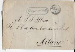 """STORIA POSTALE REGNO - BUSTA IN FRANCHIGIA DA ROMA 19.10.1875 - BOLLO VERDE """"CARTEGGIO DI S.M."""" - 1861-78 Victor Emmanuel II."""