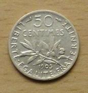 France 50 Centimes Semeuse 1905 - Frankreich
