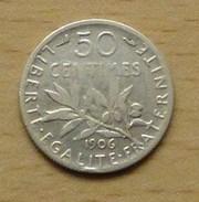 France 50 Centimes Semeuse 1906 - Frankreich