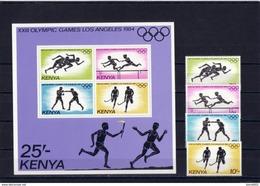 Olympics 1984 - Boxing - KENYA - S/S+Set MNH** - Zomer 1984: Los Angeles