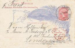 Mexique ,entier Postal Illustré De 1893 Pour Londres - Mexique