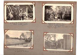 """Usine De Riviere Salée.Le Carbet. Le Lamentin. Yacht  """"le Bourg"""".etc...10 Photos Originales Sur Page D'album. 1926. - Martinique"""