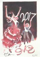 POMPETTI : Carte Voeux BD 2017 (numerotée) - Cartes Postales
