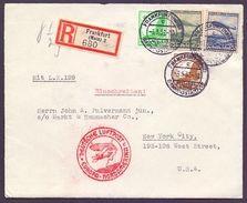 Dt. Reich 1936 - Zeppelin Hindenburg LZ 129 - Briefvorders.- MiNr.606/607 (976) - Used Stamps