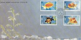 GOOD HONG KONG FDC 1993 - Goldfishes - Hong Kong (...-1997)
