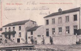 Gruss Aus Bifingen Restauration Michel Philipp Mit Schulgebäude (1908) - France