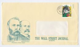 1987 NETHERLANDS The WALL STREET JOURNAL EUROPE Illus ADVERT COVER  Charles DOWER Edward JONES Pic, Snooker Sport Stamps - Covers & Documents