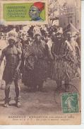 MARSEILLE - Exposition Coloniale 1922 - Palais De A.O.F - Un Groupe Danseurs Sénégalais - Vignette Exposition  PRIX FIXE - Ausstellungen