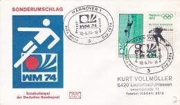 Germany Cover 1974 FIFA World Cup Football - Hannover Presse-zentrum (DD8-4) - Coppa Del Mondo