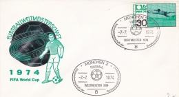 Germany Cover 1974 FIFA World Cup Football - München Fussball Weltmeister (DD8-4) - Coppa Del Mondo