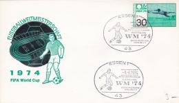 Germany Cover 1974 FIFA World Cup Football - Essen Motiv Briefmarken Ausstellung (DD8-4) - Coppa Del Mondo
