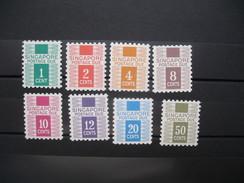 Lot De Timbre Taxe Singapour N° 1 à 8   Neuf** Côte 30 €  à Voir - Singapour (1959-...)