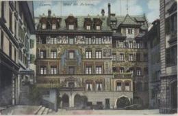 CPA - LUZERN - HOTEL DES BALANCES - Edition E.Goetz - LU Lucerne