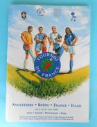 1997. TOURNOI DE FRANCE ... ENGLAND BRAZIL FRANCE ITALY Football Soccer Programme Fussball Programm Programma Programa - Match Tickets