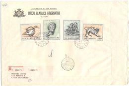 SAN MARINO - 1971 - ARTE ETRUSCA - FDC - Ufficio Filatelico Governativo - RACCOMANDATA - FDC