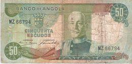 Angola - Pick 100 - 50 Escudos 1972 - VG+ - Angola