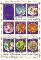 Umm Al-Qiwain 1972 Mi# 922-929 A Kleinbogen (3 X 3) Used - Apollo 11-17 / Space - Umm Al-Qiwain