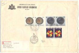 SAN MARINO - 1976 - 2 X EUROPA Cept + 2 X MUTUO SOCCORSO - FDC - Ufficio Filatelico Governativo - RACCOMANDATA - FDC