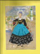 Carte Postale Brodée Bretagne Signée M.C Maichaux Carte Neuve Scanners Recto Verso Éditions JACK 22700 LOUANNEC - France