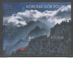 POLAND , 2017, MNH, MOUNTAINS, CROWN OF POLISH MOUNTAINS, S/SHEET - Geology