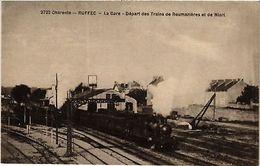 CPA   Charente - Ruffec - La Gare - Départ Des Trains De Boumaziéres ...(519245) - France