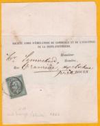 1866 - 1 Centime Olive - Napoléon III - Empire Franc. YT N° 9 - Sur Portion De Bande De Journal - 1863-1870 Napoleon III With Laurels
