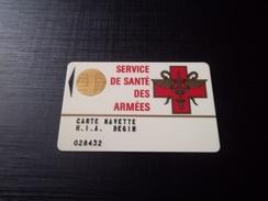 CARTE A PUCE SERVICE DE SANTE DES ARMEES PUCE N°2 T.B.E !!! - France