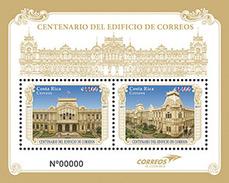 MNH SHEET COSTA RICA, 2017 Building Correo De Costa Rica 100 Years. - Costa Rica