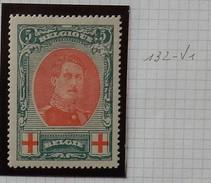 1915 Albert L Tvv Rode Kruis OBPnr 132 V1* - Plate Numbers