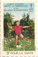 TIMBRE-VIGNETTE 8X12cm-1970-1971-LUTTE CONTRE LA TUBERCULOSE-TBE - Antituberculeux