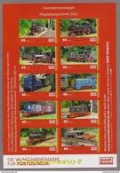 """(KB) Privatpost - PostMODERN - Eisenbahn -  KB """"Eisenbahnnostalgie Magdeburgerforth 2017"""" - Trenes"""