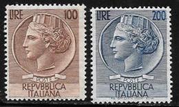 Italy, Scott # 661-2 MNH Italia, 1954, CV$150.00 - 6. 1946-.. Republic