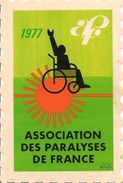 TIMBRE-VIGNETTE-ADHESIVE 8X12cm-1977-ASSOCIATION DES PARALYSES DE FRANCE-TBE - Erinnophilie