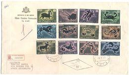 SAN MARINO - 1970 - SEGNI DELLO ZODIACO - FDC - Ufficio Filatelico Governativo - RACCOMANDATA - FDC