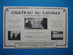 (1928) A Vendre Le CHÂTEAU DU LAUNAY à Guéméné-sur-Scorff (Morbihan) - Vieux Papiers