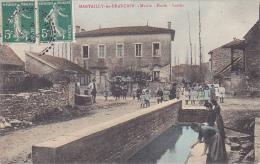 Martailly Les Brancion - Mairie - Ecole - Lavoir (belle Animation, Laveuses, Enfants Et Leur Maitre, Fontaine) Circ 1908 - France