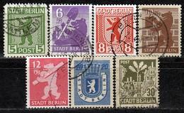BESETZUNG Berlin&Brand. 1945 -  MiNr: 1 - 7 A Komplett  Used - Zone Soviétique