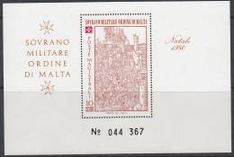 MALTA Orden, MALTESERORDEN  Block, Postfrisch **, Weihnachten 1980 - Malta (Orden Von)