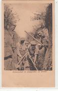 CPA Allemande-Soldats Allemand Tranchée-Schanzarbeit Im Laufgraben. Im Westen.-TBE- 2scans - Guerre 1914-18