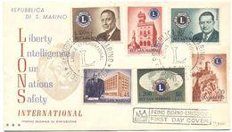 SAN MARINO - 1960 - LIONS INTERNATIONAL - FDC - FDC