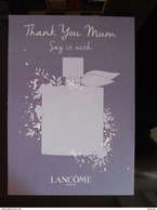 """LANCOME La Vie Est Belle HARD Carte Purple Color Parfum """"thank You Mum"""" (different Bottle Design) - Modern (from 1961)"""