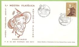 Portimão - Envelope Comemorativo - António Aleixo - 1ª Mostra Filatélica - Filatelia - Philately. Faro. - Portugal