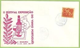 Bombarral - Envelope Comemorativo - Exposição Do Vinho Português, 1961 - Filatelia - Philately - Portugal