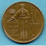 R300/  MONACO  10 CENTIMES 1962 - 1960-2001 Nouveaux Francs