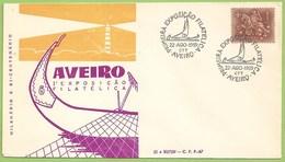 Aveiro - Envelope Comemorativo - 1ª Exposição Filatélica, 1959 - Moliceiro - Filatelia - Philately - Portugal