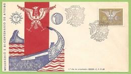 Aveiro - Envelope Comemorativo - Milenário E Bi-Centenário - 1º Dia De Circulação, 1959. Moliceiro. Filatelia. Philately - Portugal